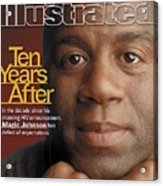Magic Johnson, Basketball Sports Illustrated Cover Acrylic Print