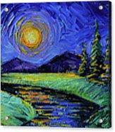 Magic Night - Detail 1 - Fantasy Landscape Acrylic Print