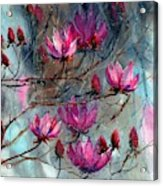 Magnolia At Midnight Acrylic Print
