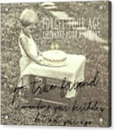 Make A Birthday Wish Quote Acrylic Print