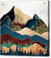 Malachite Mountains Acrylic Print