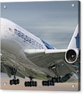 Malaysia Airlines Airbus A380-841 Acrylic Print
