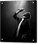 Male Singer Performing Acrylic Print