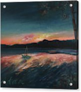 Malletts Bay Sunrise Colchester Vermont Acrylic Print