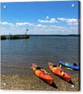 Mallows Bay And Kayaks Acrylic Print