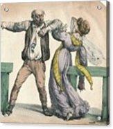 Man Attacking A Woman Acrylic Print