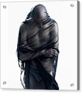 Man Covered In Black Material Acrylic Print
