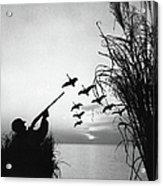 Man Duck-hunting Acrylic Print