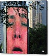 Man Face Crown Fountain Chicago Acrylic Print
