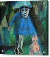 Man In A Park With A Baby Acrylic Print