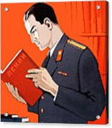 Man Is Reading Lenin Books Acrylic Print