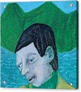 Man Leaving An Island Acrylic Print