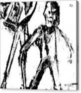 Man Standing With A Bird Acrylic Print
