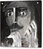 Man With A Handlebar Moustache Acrylic Print