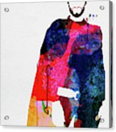 Man With No Name Watercolor Acrylic Print