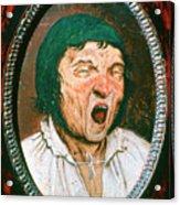 Man Yawning, C1545-1569. Artist Pieter Acrylic Print