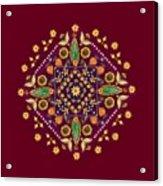Mandala Flowering Series#2. Terracotta Acrylic Print