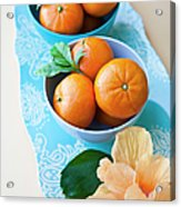 Mandarin Oranges On A Platter Acrylic Print