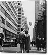 Manhattan Street Scene Acrylic Print