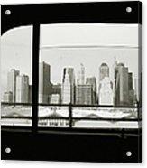 Manhattan Through Car Window Acrylic Print