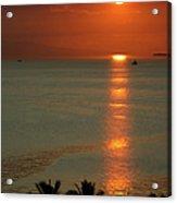 Manila Bay Sunset Acrylic Print