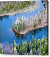 Manistee River Bend From Above Acrylic Print