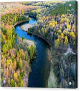 Manistee River From Above In Spring Acrylic Print