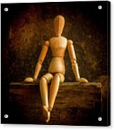 Mannequins On A Wooden Box Acrylic Print