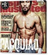 Manny Pacquiao, 2015 Wbawbcwbo Welterweight Title Preview Sports Illustrated Cover Acrylic Print