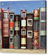 Many Books With Windows Doors Lamps In Acrylic Print