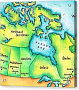 Map Of Canada Acrylic Print