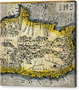 Map Of Crete 1584 Acrylic Print