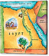 Map Of Egypt Acrylic Print