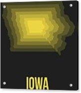 Map Of Iowa Acrylic Print