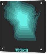Map Of Wisconsin 3 Acrylic Print