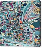 Map Style Art Background,bath City Acrylic Print
