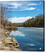 March Morning At Sanctuary Pond Acrylic Print