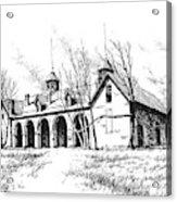 Marcus Daly Tammany Barn Hamilton Montana Acrylic Print