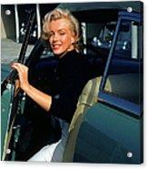 Marilyn Monroe Getting Out Of A Car Acrylic Print