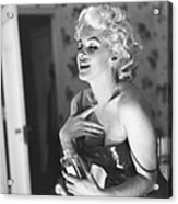Marilyn Monroe With Chanel No. 5 Acrylic Print