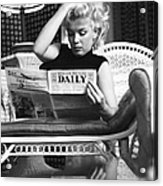 Marilyn Relaxes In A Hotel Room Acrylic Print