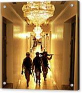 Marines Secure U.s. Embassy In Baghdad Acrylic Print