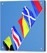 Maritime Signal Flags Acrylic Print