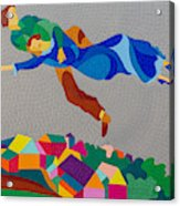 Mark And Bella Chagall Above The City Acrylic Print