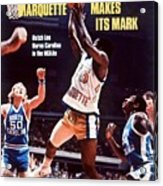 Marquette Butch Lee, 1977 Ncaa National Championship Sports Illustrated Cover Acrylic Print