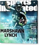 Marshawn Lynch 2015 Nfl Fantasy Football Preview Issue Sports Illustrated Cover Acrylic Print