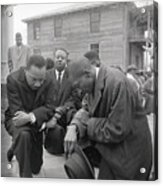 Martin Luther King Jr. Praying Acrylic Print