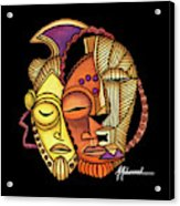 Maruvian Masks 2 Black Acrylic Print
