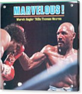 Marvelous Marvin Hagler, 1985 Wbc Wba Ibf Middleweight Title Sports Illustrated Cover Acrylic Print