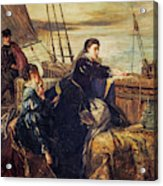 Mary, Queen Of Scots - The Farewell To France, 1867  Acrylic Print